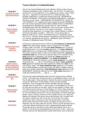 texas association of realtors lease extension