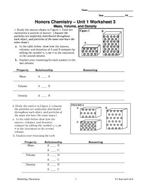 chemistry unit 1 worksheet 3 Fillable Online Honors Chemistry Unit 1 Worksheet 3 Fax Email Print ...