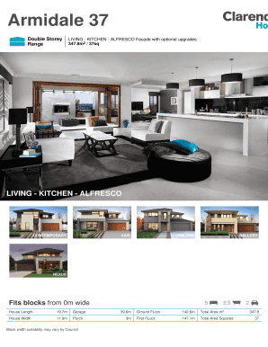 Fillable Online New Home Designs House Plans Nsw Clarendon Homes Fax Email Print Pdffiller