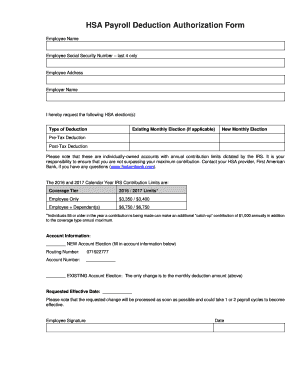 payroll deduction authorization agreement - Edit, Print & Download ...