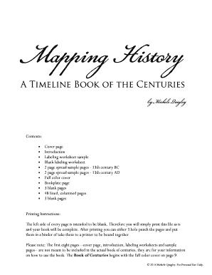 blank timeline worksheet