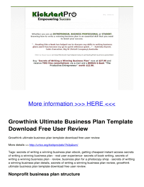 Editable it disaster recovery plan template uk fill out best growthink ultimate business plan template download free user review cheaphphosting Image collections