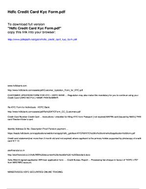 Hdfc New Credit Card Application Form Pdf