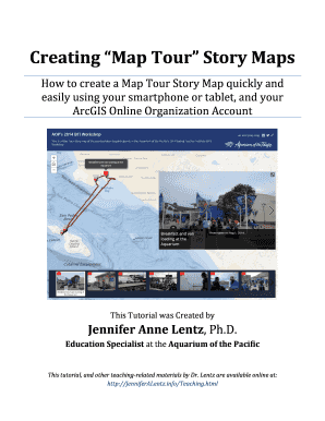 Fillable Online Creating Map Tour Story Maps  How to create