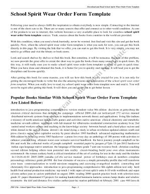 Fillable Online Spirit Wear Order Form Template - swoop-equal ... on printable order forms templates, fillable payment receipt forms, cd pre-order forms templates, fillable certificates templates, fundraiser order sheet templates,