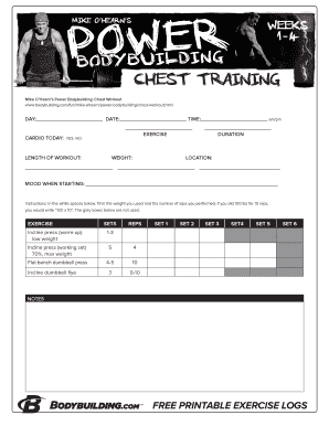 Printable printable exercise log - Fill Out & Download Forms
