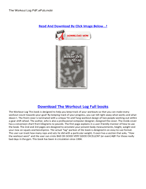 editable workout log pdf fillable printable online forms to