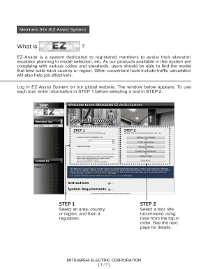 Fillable Online Mitsubishi EZ-Assist System Fax Email Print
