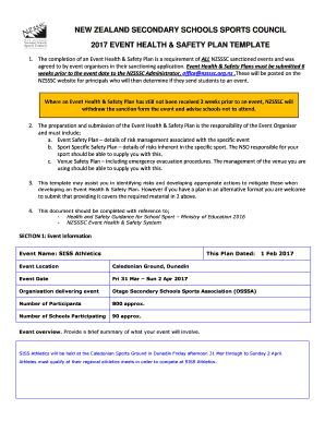 Event Management Plan Template and Guidance Notes Fill Online ...