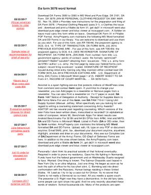 Fillable Online Da form 3078 word format Fax Email Print - PDFfiller