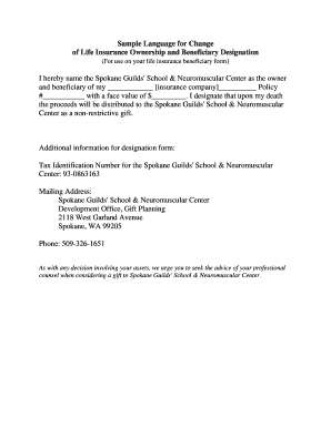 Fillable beneficiary designation language - Edit, Print ...