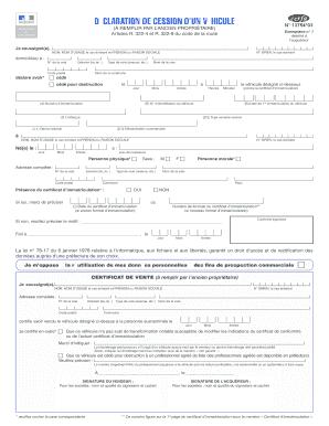 certificat de v hicule pdf fill online printable fillable blank pdffiller
