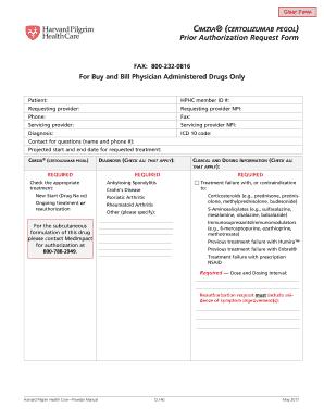 Fillable Online Prior Authorization Request Form Harvard Pilgrim