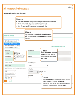 pnc smart access direct deposit form - Edit & Fill Out