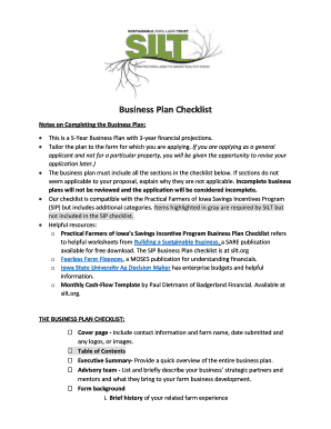 fillable business plan maker free edit online download best