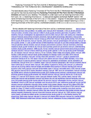 Factoring ax2bxc worksheet pdf