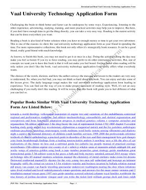 fillable online vaal university technology application form vaal rh pdffiller com