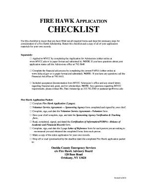 fillable online fire hawk application checklist ocgov net fax