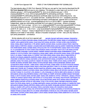 Fillable Online Ct W4 Form Spanish Pdf. Ct W4 Form Spanish Pdf Fax ...