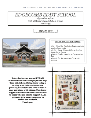 Fillable Online newsletter copy pages - Edgecomb Eddy School