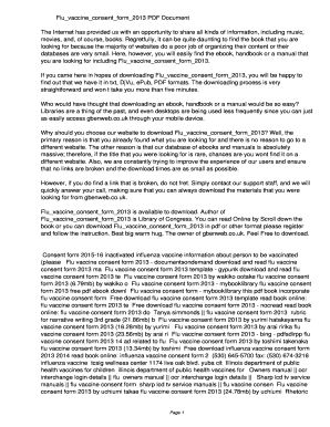 flu vaccine consent form 2013