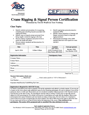 Fillable Online Crane Rigging Signal Person Certification
