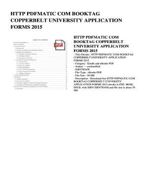 copperbelt university application form admission for 2015 pdf