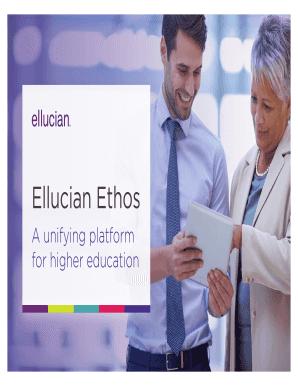 Fillable Online Ellucian Ethos Fax Email Print - PDFfiller