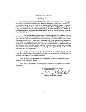 Printable closing certificate asset purchase agreement edit closing certificate asset purchase agreement platinumwayz