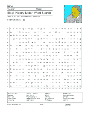 image about Black History Word Search Printable named tough phrase look - Fill Out On the net Data files, Obtain in just