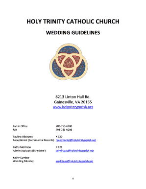 Fillable Wedding Welcome Letter Pamphlet Edit Online Print