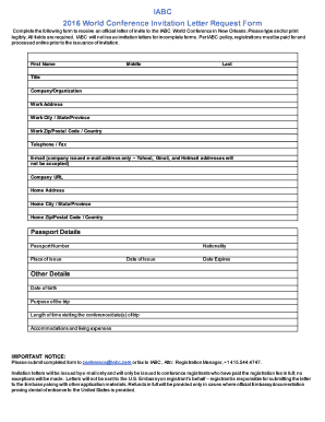 Submit Church Invitation Letter Conference Online Samples In