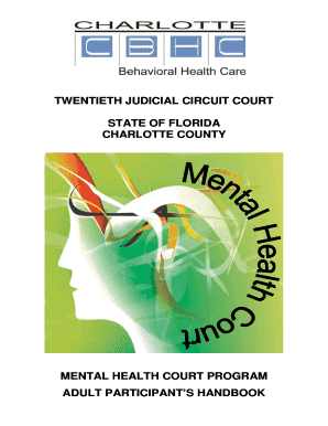 Fillable Online Charlotte County Mental Health Court Handbook Fax