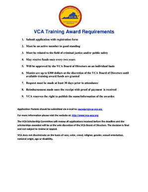 Fillable Online Please Enroll Me As A VCA ACA Member Fax Email Print