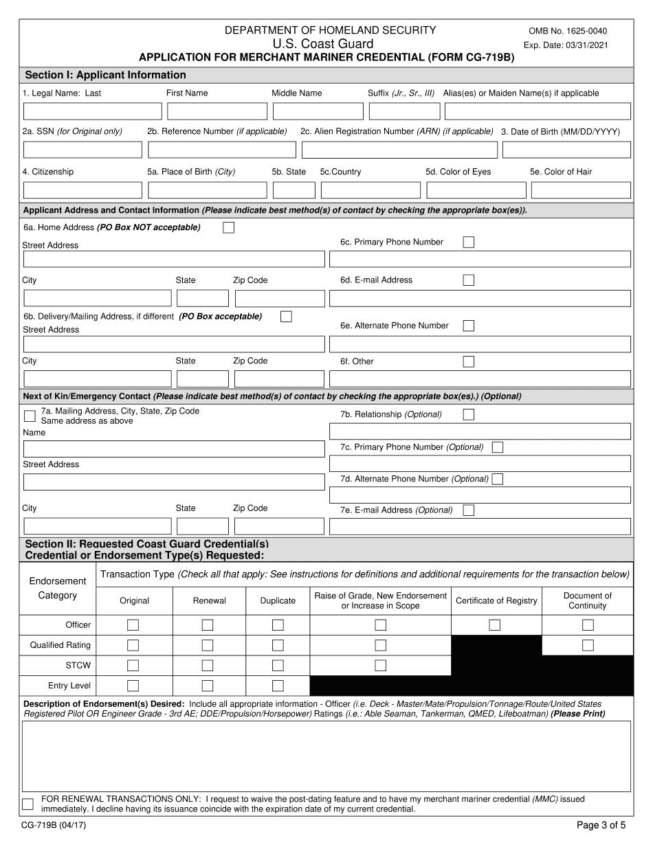 Form CG-719B