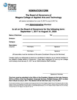 niagara college application form pdf