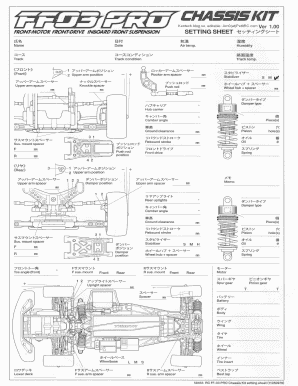 Fillable Online Tamiya FF03 Pro Blank Setup Sheet Fax Email
