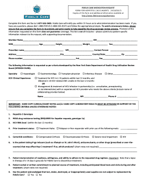 fidelis prior auth form Fillable Online FIDELIS CARE MEDICATION REQUEST Fax Email Print ...