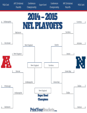 Fillable Nfl Playoff Bracket 2019 Fill Online Printable Fillable Blank Pdffiller
