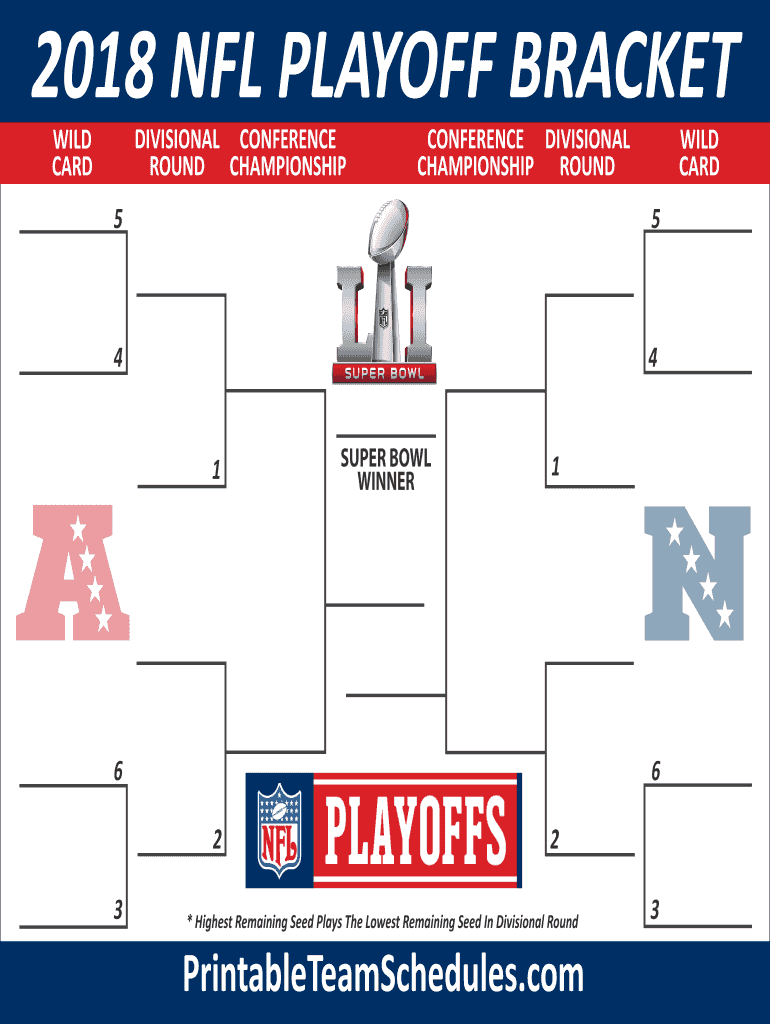 picture relating to Nfl Playoff Bracket Printable identify Fillable Nfl Playoff Bracket - Fill On the internet, Printable