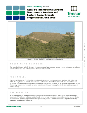 Fillable Online Tensar Case Study Ref Draft Fax Email Print