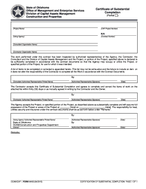 Editable aia certificate of substantial completion form fill out aia certificate of substantial completion form yelopaper Images