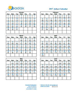 Quadax Julian Calendar 2021 2019 Julian Calendar Quadax   Fill Online, Printable, Fillable