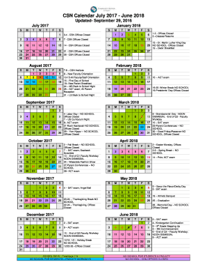 Csn Calendar 2020 Csn Calendar | 2020 Calendar