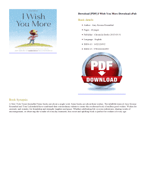 Fillable Online I Wish You More Amy Krouse Rosenthal, PDF I