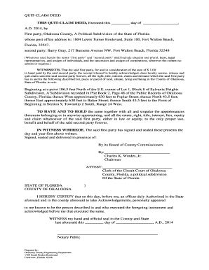 Fillable example of a quit claim deed download templates in pdf this quit claim deed executed this day of solutioingenieria Choice Image