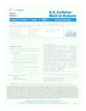 us cellular rebate Young America Us Cellular - Fill Online, Printable, Fillable, Blank ...