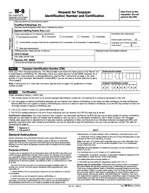 For Puerto Rico - W9 Form (pdf) - Spartan Staffing Fill Online