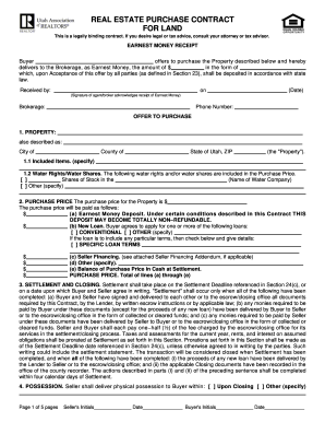 Bill Of Sale Form Utah Real Estate Purchase Contract For Land Form ...