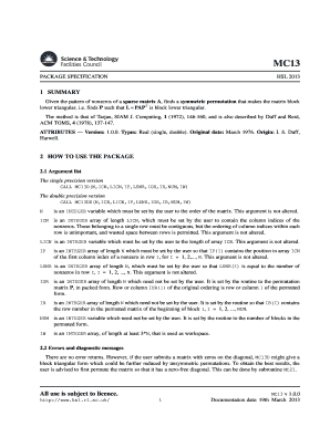 Fillable Online hsl rl ac MC13 - Permute a sparse matrix to block ...